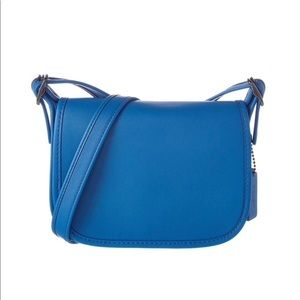 Coach Saddle Bag 18 Crossbody Bag Mini Blue